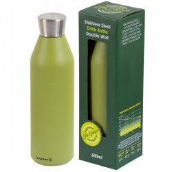 Reusable Double Wall Drink Bottle - Olive