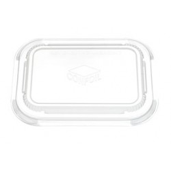 PVC Clip on lid for Dualpak Paperboard Tray