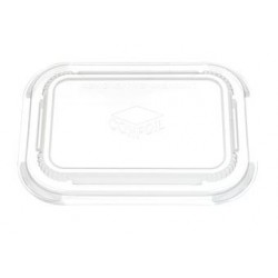 Clip On Lid for Dualpak Paperboard Tray ( Large Oblong)