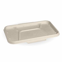 4 Compartment Natural Takeaway Base Lid