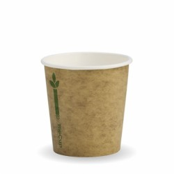 120ml / 4oz (63mm) Kraft Green Line Single Wall BioCup