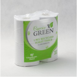 Eco Friendly Toilet Roll - 1 Ply by Caprice