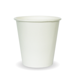 230ml / 6oz (80mm) White Single Wall BioCup