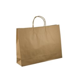 Kraft Midi Boutique Paper Bag - Brown