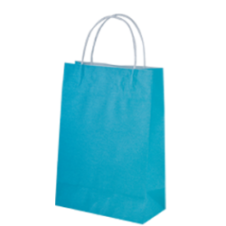 Kraft Junior Paper Bag - Beach Blue