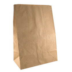 Paper Flat Bottom Bag - Large