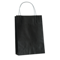 Kraft Junior Paper Bag - Jet Black