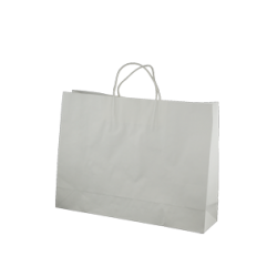 Kraft Midi Boutique Paper Bag - White