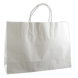 Kraft Small Fashion Boutique Bag - White