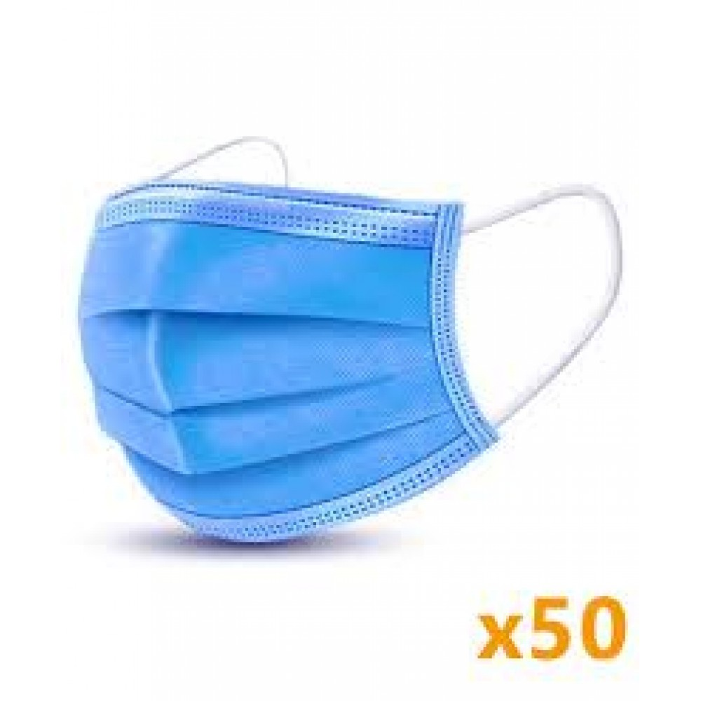 Face Mask 3 ply disposable (50)