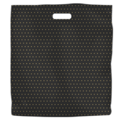 Printed High Density Plastic Fashion Bag - Black and Gold Dots Extra Large