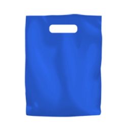 Coloured Low Density Plastic Fashion Bag - Blue Small
