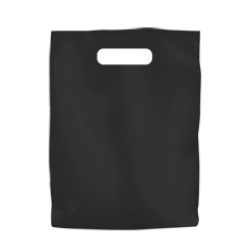 Coloured Low Density Plastic Fashion Bag - Black Small