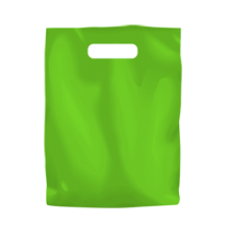 Coloured Low Density Plastic Fashion Bag - Lime Green Small