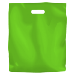 Coloured Low Density Plastic Fashion Bag - Lime Green Large