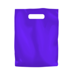 Coloured Low Density Plastic Fashion Bag - Purple Small