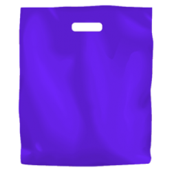 Coloured Low Density Plastic Fashion Bag - Purple Large