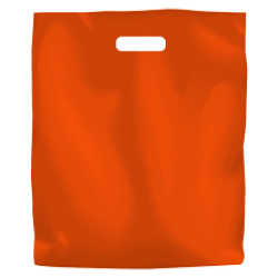 Coloured Low Density Plastic Fashion Bag - Orange Large