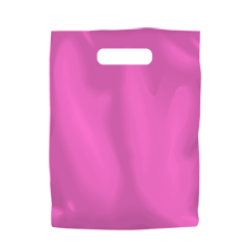 Coloured Low Density Plastic Fashion Bag - Hot Pink Small