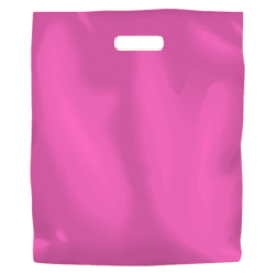 Coloured Low Density Plastic Fashion Bag - Hot Pink Large