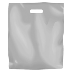 Plastic Fashion Bag - Frosted Large