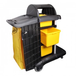 Sabco Premium Roll Top Janitor Cart