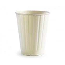 Eco Friendly Hot Paper Cup - 12oz Double Wall White
