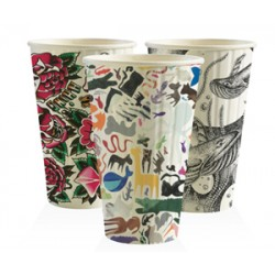 Biodegradable Double Wall Hot Paper Cup - 16oz