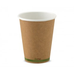 Eco Friendly Hot Paper Cup - 12oz Single Wall Brown