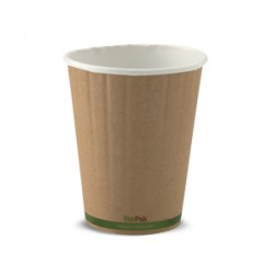 Eco Friendly Hot Paper Cup - 12oz Double Wall Brown
