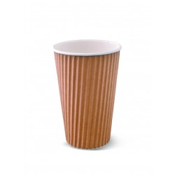 Paper Ripple Cup - 16oz Brown