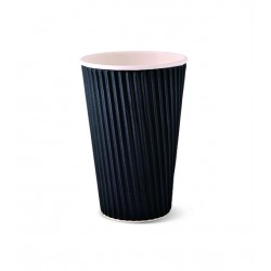 Paper Ripple Cup - 16oz Black