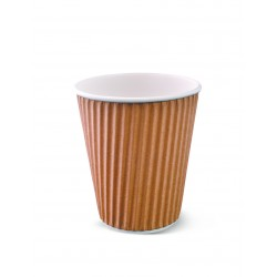 Paper Ripple Cup - 12oz Brown