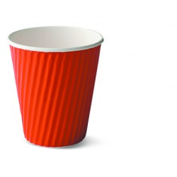 Paper Ripple Cup - 12oz Red
