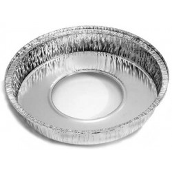 Foil Container Round 5225 - Cheesecake Large 1550ml (Hole in base)