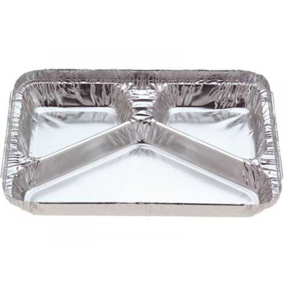 Foil Container 7123 - 3 Cavity Meal Tray 550ml