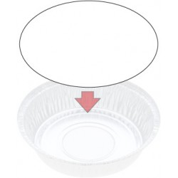 Foil Container Round 5218LB - Board Lid
