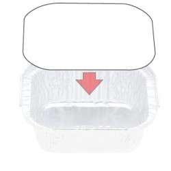 Foil Container Oblong 7114LB - Board Lid