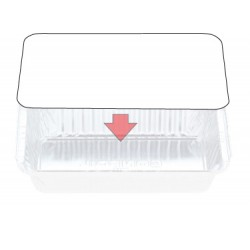Foil Container Oblong 7119/72LB - Board Lid