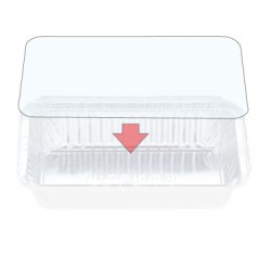 Foil Container Oblong 7119/72LPVC - PVC Clear Lid