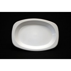 Plastic Plate Oval - White 165mm