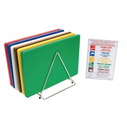 Hygiplas Thick Low Density Chopping Board Pack