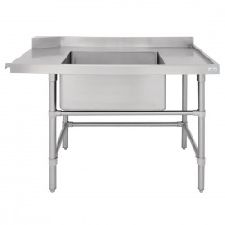 Vogue Dishwasher Inlet Table with Sink R 1200mm