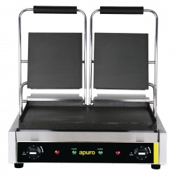 Apuro Bistro Double Contact Grill Smooth Plates