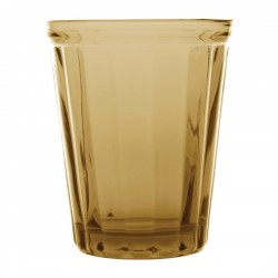 Olympia Cabot Panelled Glass Tumbler Amber 260ml