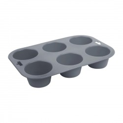 Vogue Flexible Silicone Six Hole Muffin Pan