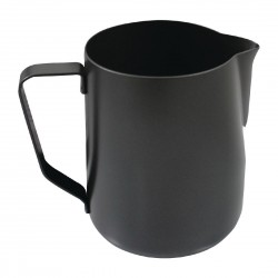 Rhinowares Stealth Milk Steaming Jug Black 1Ltr