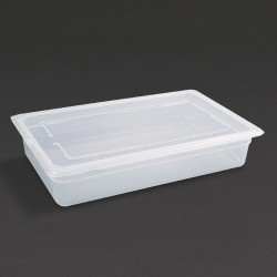 Vogue Polypropylene Gastronorm Pan 1/1 with Lid 100mm
