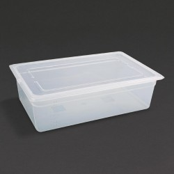 Vogue Polypropylene Gastronorm Pan 1/1 with Lid 150mm