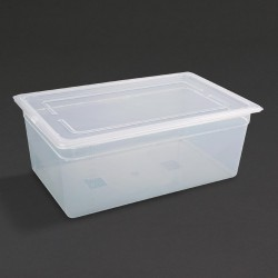 Vogue Polypropylene Gastronorm Pan 1/1 with Lid 200mm